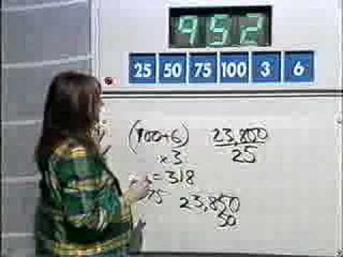 This has got to be the most amazing numbers game answer ever. Countdown 1997