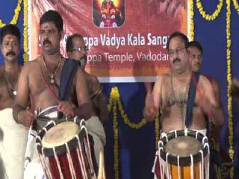 Panchari melam arangettam at Sama ayyappa temple Baroda
