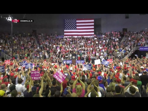 Watch Live! Trump Rally in Evansville, IN