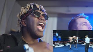 KSI Reacts To My Pro Debut (LIVE REACTION)