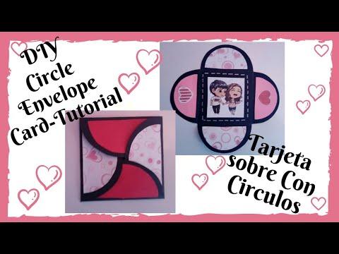 DIY Circle Envelope Card-Tutorial /Cardmaking / Tarjeta sobre con círculos