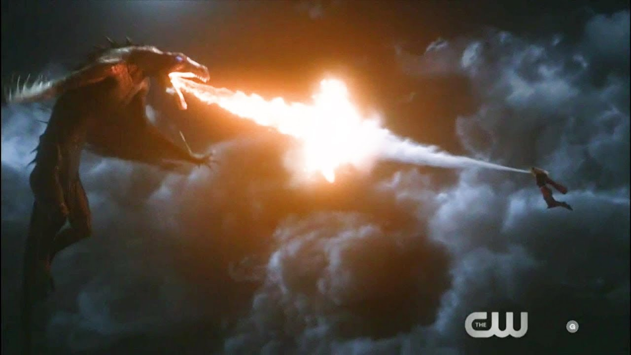 Supergirl 4x06 Supergirl fights a Dragon (Shapeshifter)
