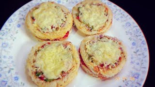 Cheesy Mini Disc Pizza Bites 🍕 | Mini Pizza Recipe| Mini Pizza Party Appappetizers
