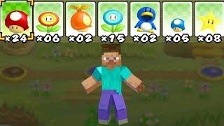 Was passiert, wenn Steve (Minecraft) Mario's Power Ups benutzt?