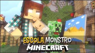 Minecraft Escola Monstro #08 - Desenhando Monstros !!  Monster School