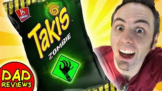 AMERICANS TRY MEXICAN SNACKS   Takis Zombie Taste Test & Review