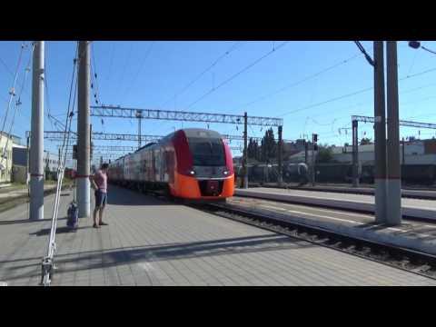 Электропоезд «Ласточка-премиум» Ростов → Краснодар на станции Краснодар-1, 3 сентября 2016