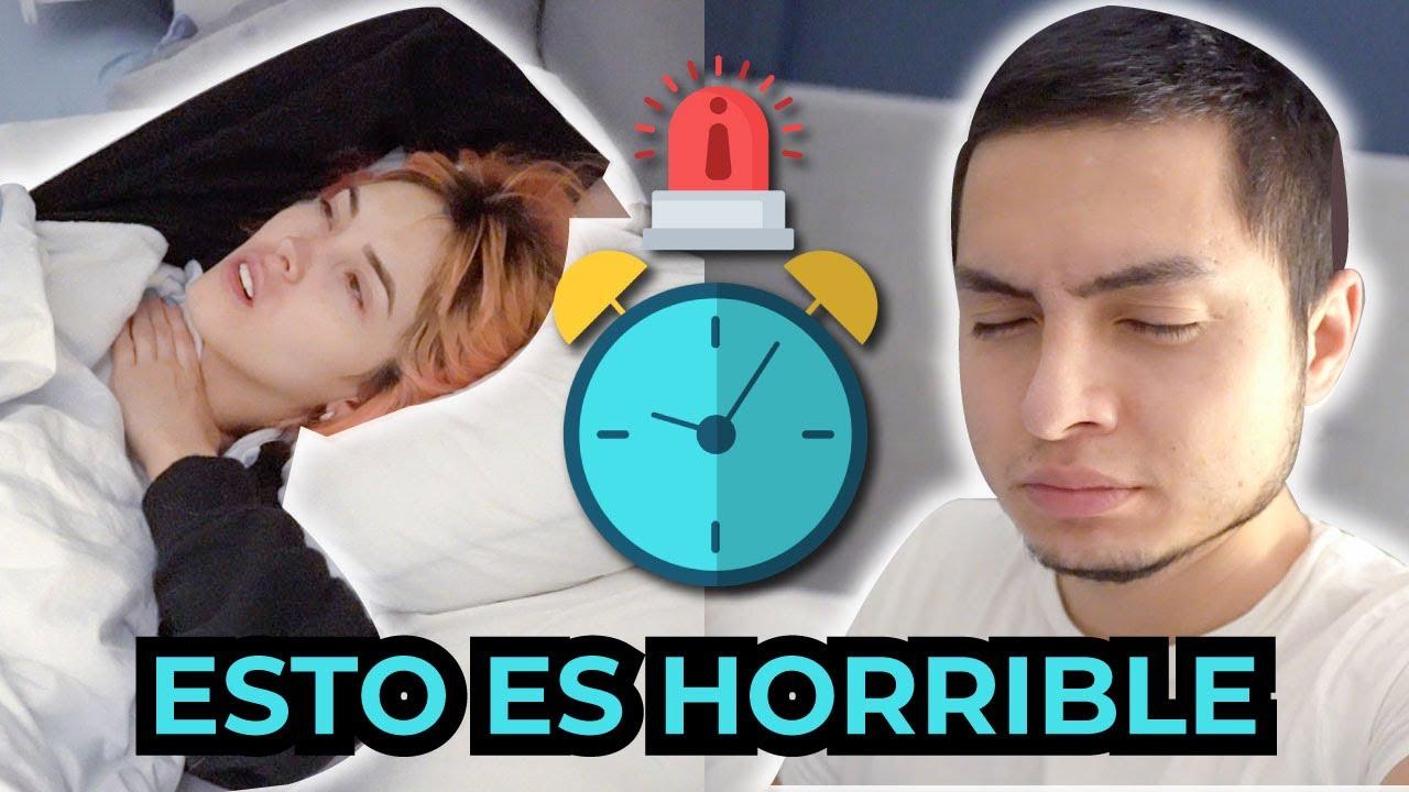 1 SEMANA DESPERTANDO a las 5 de la mañana 😱 | ES IMPOSIBLE 🤮 | Santimaye, Kika Nieto