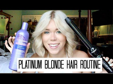 platinum blonde hair care routine youtube