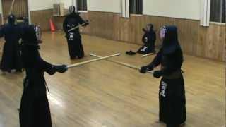 Kyung-nam Kim vs. Masashi Shikai (Chuo dojo, LA) Kendo Keiko_June 10, 2010