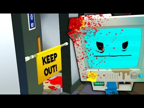 INSIDE TEMP BOTS SECRET MURDER ROOM (This is scary...)| Job Simulator VR Infinite Overtime HTC Vive)