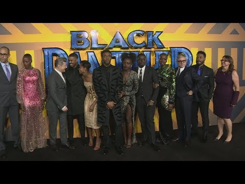 Black Panther cast dazzle at European premiere in London