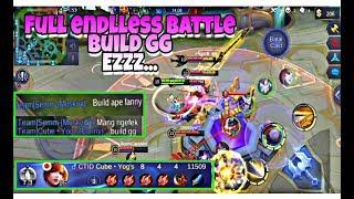 Ngetroll! Pakai Fanny Build Full Endlless Battle! EXPERIMENT #7