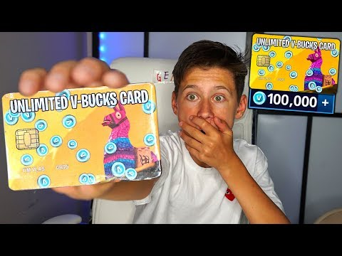 Surprising My Little Brother With an UNLIMITED V-BUCKS CARD In Fortnite Battle Royale