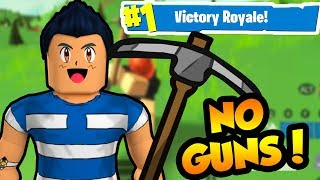 PICKAXE ONLY CHALLENGE in ISLAND ROYALE!! (Roblox Fortnite)