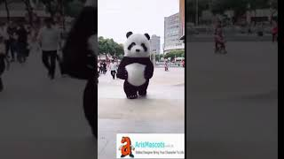 Inflatble Panda mascot costume dancing advertising mascots professional mascot design