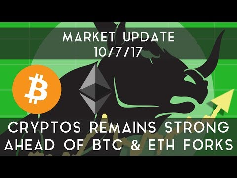 Market Update (10/7/17) | Crypto remains strong ahead of BTC & ETH forks