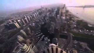 Death defying backflip on the roof of Princess Tower, Dubai
