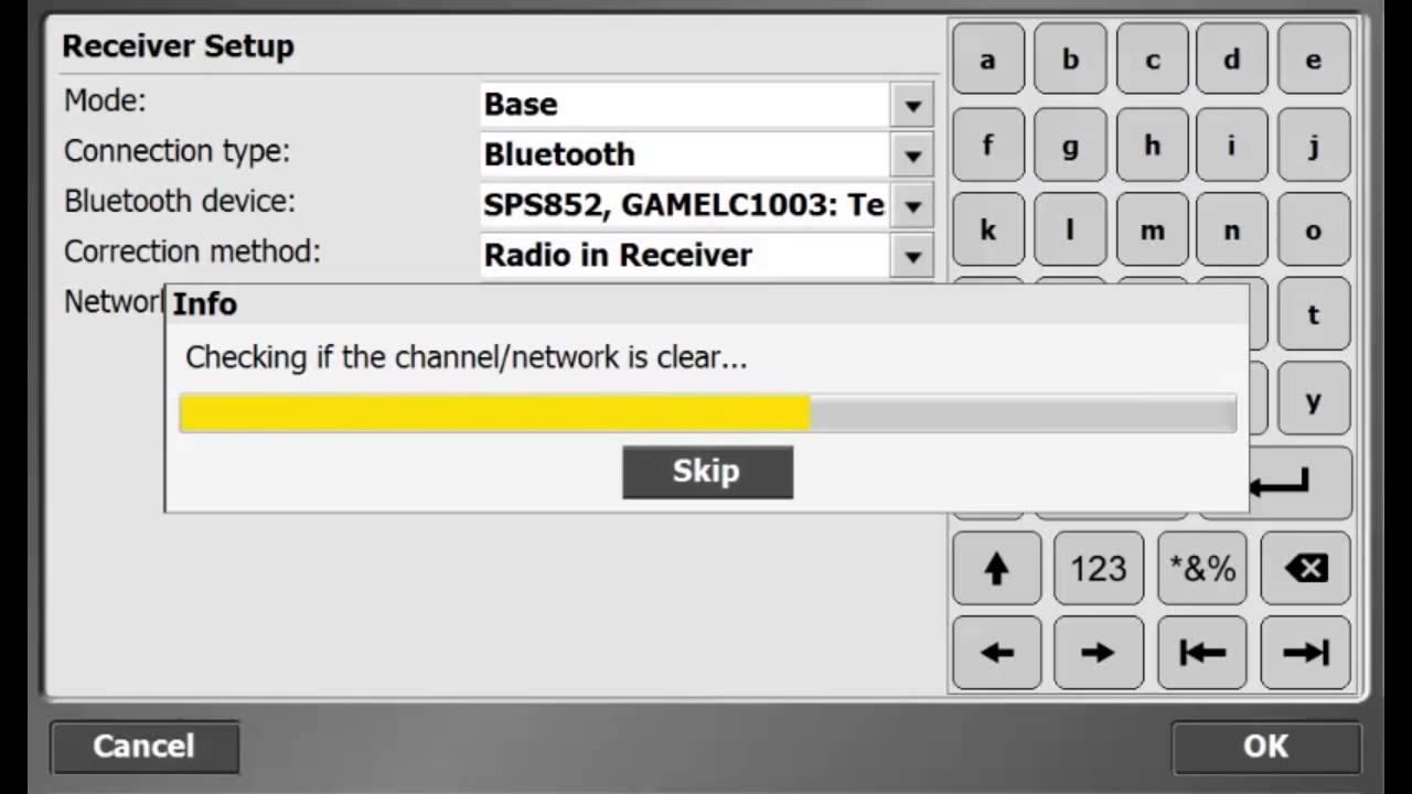 trimble scs900  setting up a site base station