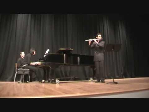 Bernardo Miethe - Bach Sonata IV for flute in C major