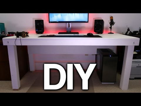 Building a Custom PC Desk! (No Visible Cables)