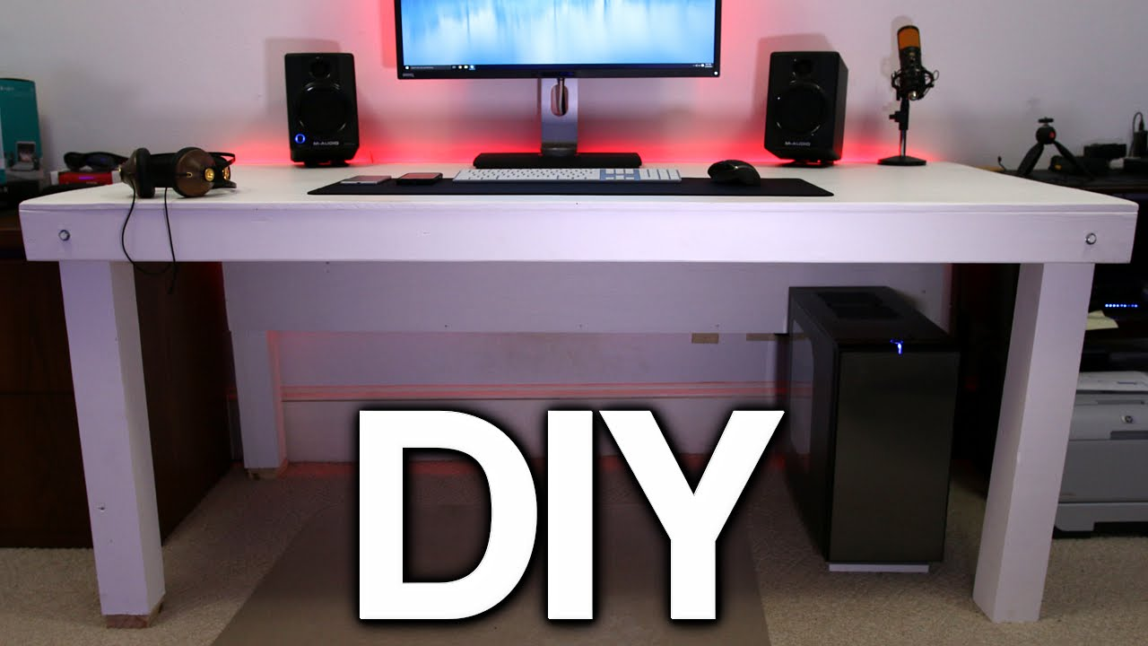Building a Custom PC Desk! (No Visible Cables) - YouTube