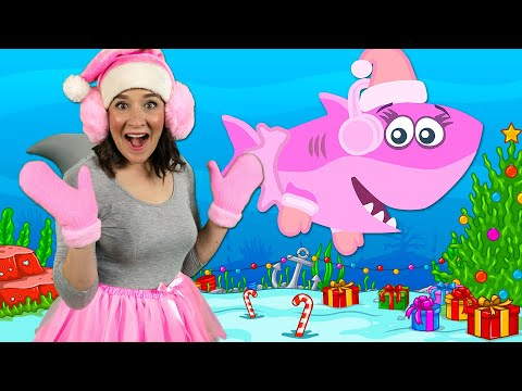 Christmas Baby Shark   Kids Songs & Nursery Rhymes   Christmas Sharks Song for Kids