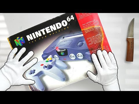 N64 UNBOXING! Nintendo 64 Console, Super Mario 64, Ocarina of Time, Goldeneye 64