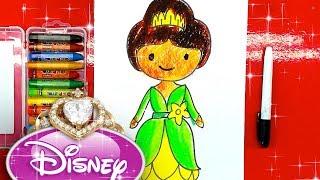 Принцесса ЛЯГУШКА для девочек / Урок рисования для детей