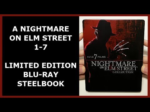 A NIGHTMARE ON ELM STREET 1-7 COLLECTION - LIMITED BLU-RAY STEELBOOK UNBOXING - SATURN EXCLUSIVE