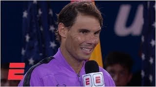 Rafael Nadal gives emotional speech after beating Daniil Medvedev | 2019 US Open Interviews