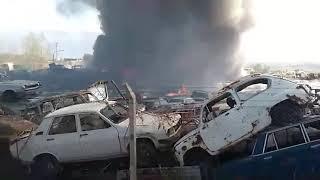 se incendió la playa de san agustín y explotaron autos