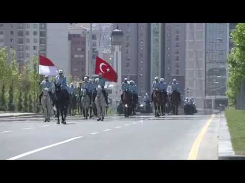 Presiden Erdogan Menyambut Presiden Jokowi Di Istana Kepresidenan Turki