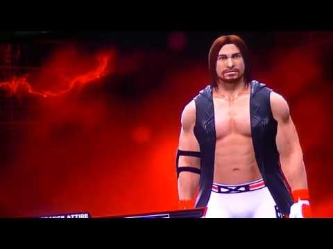 how to make AJ STYLES on wwe 2k14 th p1
