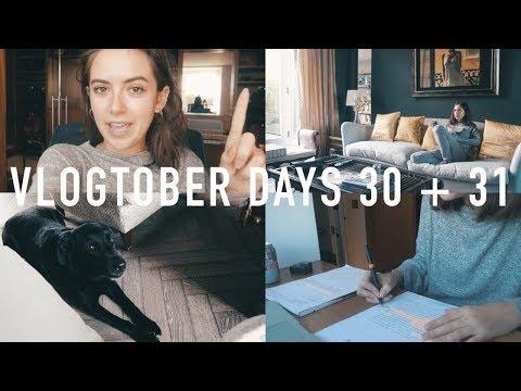 VLOGTOBER 2017 DAYS 30 + 31: Essay Writing and Skincare Routine | sunbeamsjess