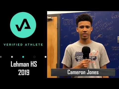 Cameron Jones 2019 Verified Athlete with Bam Score