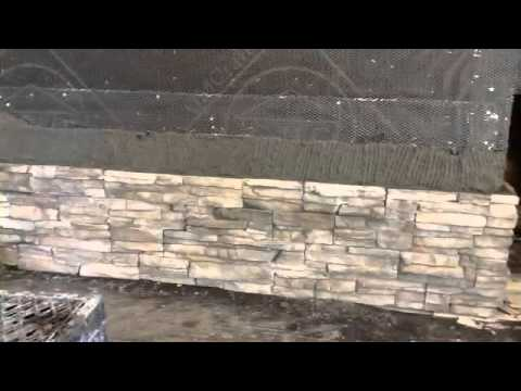 Fireplace Stone Siding Installation Stacked Stone Veneer