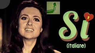 "GIGLIOLA CINQUETTI: ""SI"" (In Italian) Official Preview EUROVISION 1974 German TV Broadcast"
