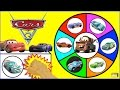 CARS 3 TOYS Spinning Wheel Game | Disney Pixar Movie Cars 3 Surprise Toys W/ Lightning McQueen