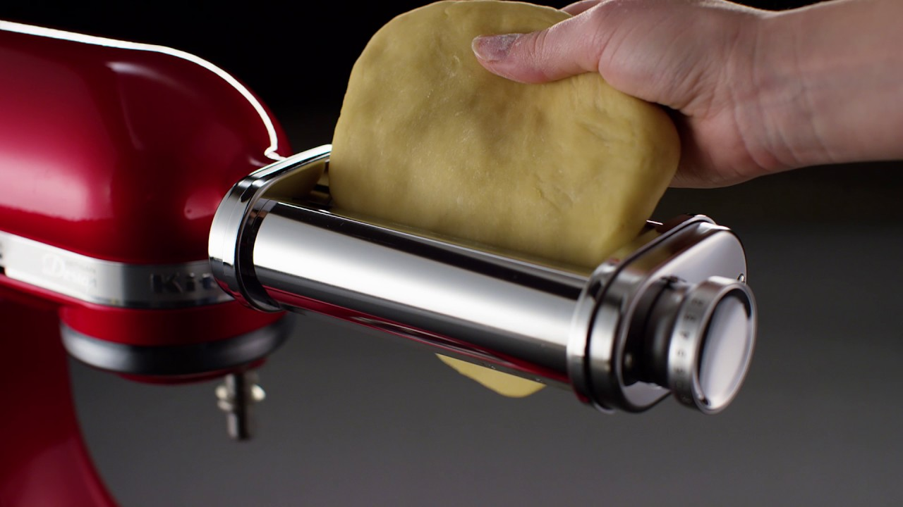kitchen aid pasta 8 island roller attachment kitchenaid youtube