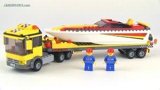 LEGO City 4643 Power Boat Transporter set review!