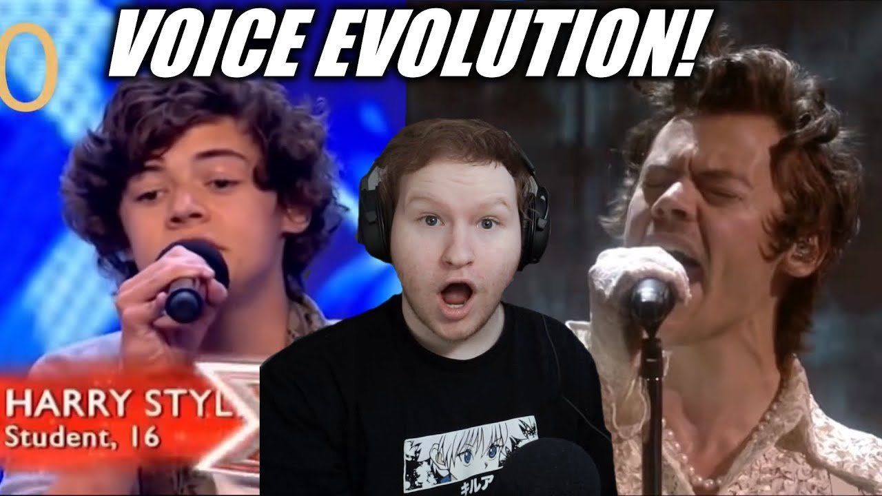 HARRY STYLES VOICE EVOLUTION REACTION!! (27th BIRTHDAY SPECIAL)