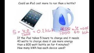 The cost of electricity - GCSE Physics
