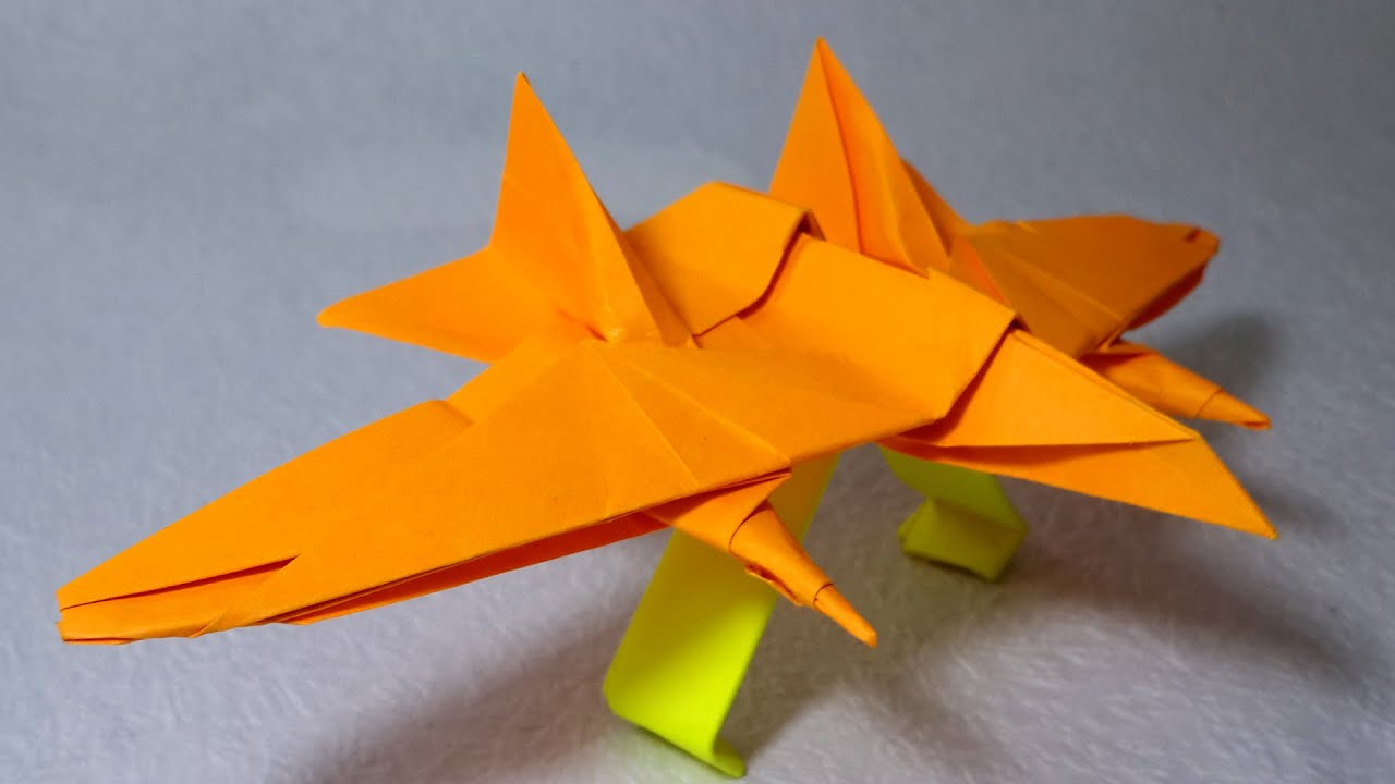 origami paper jet fighter that flies tutorial henry ph��m
