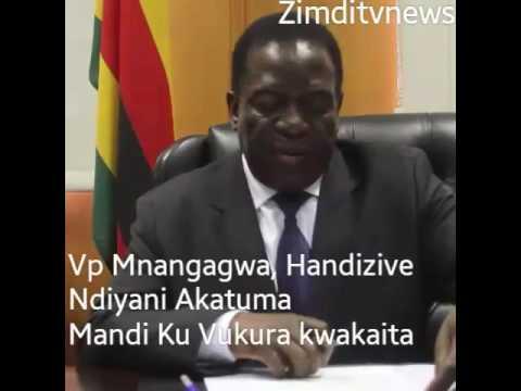 VP MNANGAGWA Handizive Akatuma Mandi Ku Vukura kwakaita