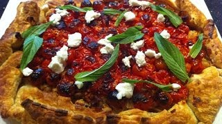 Rustic Pie With Tomato Topped With Goat`s Cheese- Theitaliancookingclass.com