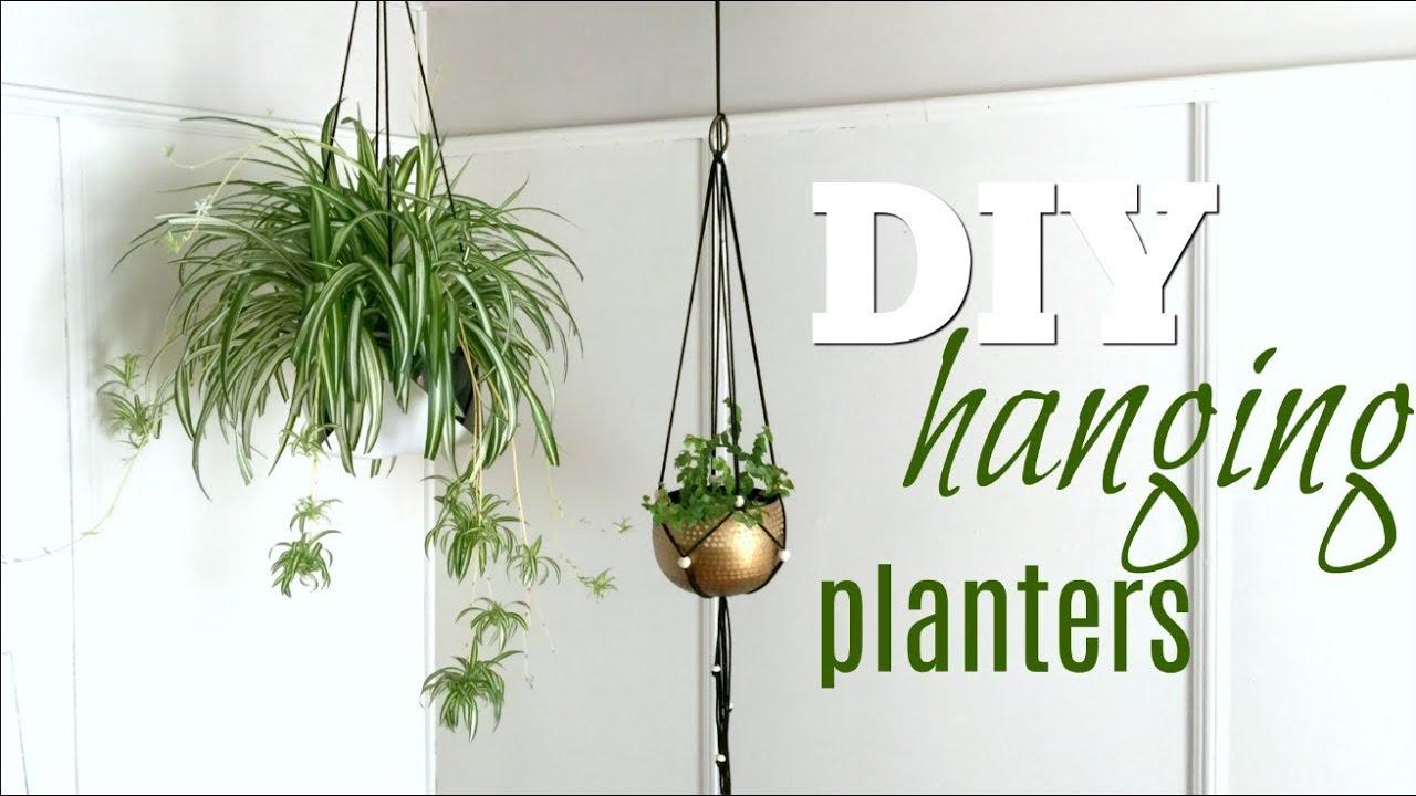 DIY Hanging Planters - YouTube