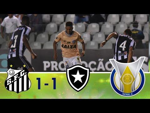 Melhores momentos - Santos 1 x 1 Botafogo - Campeonato Brasileiro (21/11/2018)
