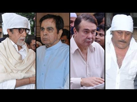 Amitabh Bachchan, Dilip Kumar attend Pran's PRAYER MEET