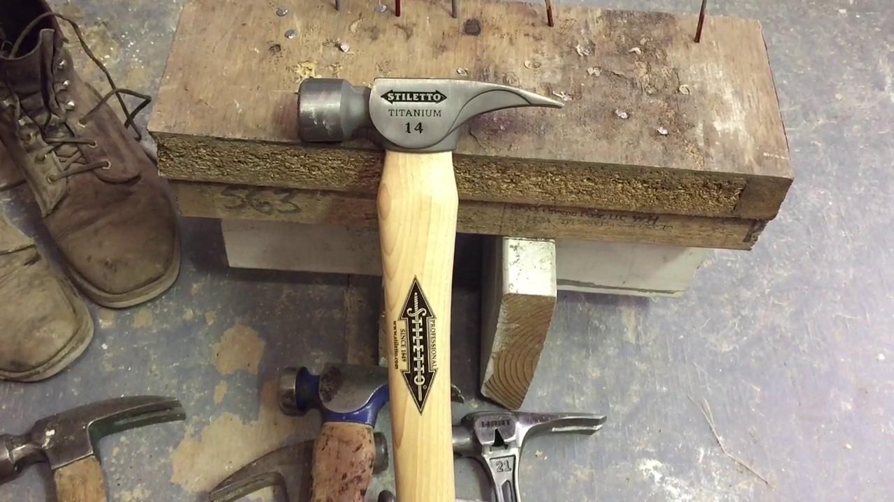 Stiletto Titanium 14oz Hammer Review & Comparison - YouTube